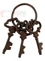 Cast Iron Jailers Keys Victorian Antique Style Skeleton Key