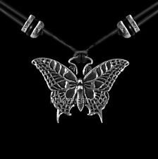 BUTTERFLY Oberon Design PEWTER NECKLACE britannia hand-cast pendant PNN50