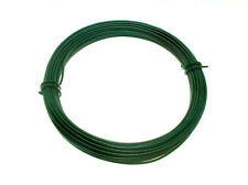 NEW GREEN PLASTIC COATED GARDEN FENCE COIL 2 MM x 1.4 MM x 15 METRES ( 6 rolls )