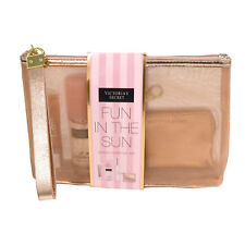 Victoria's Secret Gift Set Heavenly Summer Perfume Mist Fun In The Sun Lip Gloss