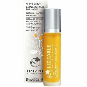 Liz Earle Superskin Concentrate for Night 10ml Rollerball New Sealed Genuine
