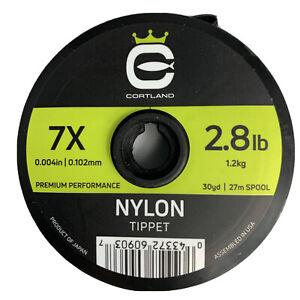 Cortland Nylon Tippet 7X - 2.8 lbs. 30 yds Premium Performance