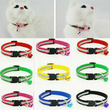 Break Away Nylon Pet Kitten Cat Dog New Adjustable Safety Collar With Bell