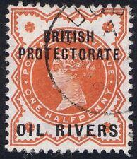 Oil Rivers 1892 1/2d Vermilion SG 1 rare BUGUMA cds
