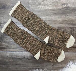 Wool Socks Brown Handknit