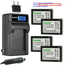 Kastar Battery LCD AC Charger for Nikon EN-EL2 MH-60 Nikon Coolpix 2500 Camera