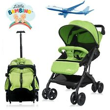 Stroller for Kids Lightweight Buggy Easy Fold Travel Stroller  Green  Cabin Size