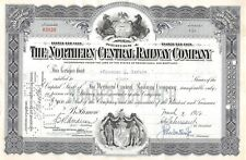 The Northern Central Railway Compagny Certificate 1950 (3420)
