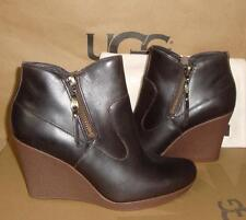 UGG Australia Meredith Lodge Wedge Leather Ankle Boots Size US 7 NIB #1009948