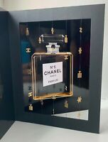 CHANEL VIP GIFT postcard big no 5 parfum BOTTLE very rare