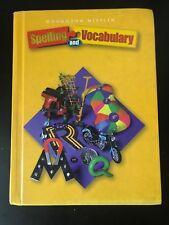 Houghton Mifflin SPELLING AND VOCABULARY Student Textbook GRADE 5 - 5th Grade