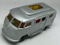 Matchbox Lesney No 34 Silver Volkswagen Camper Low Roof - VNM