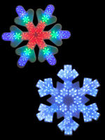 47cm LED Snowflake Silhouette Hanging Christmas Decoration Dynamic Light Up