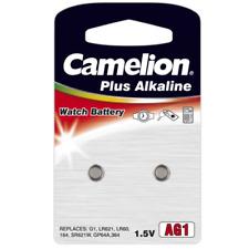 Camelion Pile Bouton Uhren - Batteries Ag0 À Ag13 Alcaline 0 HG Suivre Piles Ag1 164 364 Sr621 Lr621 50 Pièces (5 Blister)