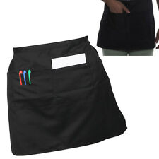 Fashion Short Waist Bistro Pocket Apron for Bar Cafe Pub Waiter Waitress Barista