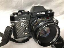 EXC++Konica Acom-1 SLR Film Camera w/Hexanon AR 50mm f/1.7 From Japan #242