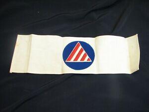 WW2 US Civil Defense Air Raid Warden Arm Band Aircraft Warning WWII