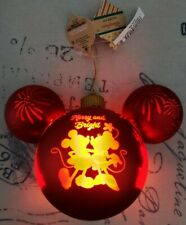 NEW 2020 Disney Parks Mickey Minnie Merry and Bright Light-Up Ornament