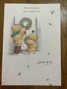 Forever Friends Christmas Card - Merry Christmas Gran And Grandad