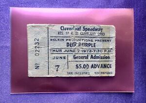 DEEP PURPLE June 7, 1973 Cleveland, Ohio - Used Concert Ticket Blackmore RARE!