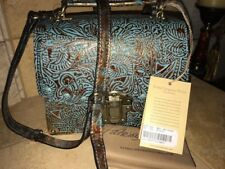 NWT-Patricia Nash-Turquoise Forest Collection-Stella-Flap Satchel-$249