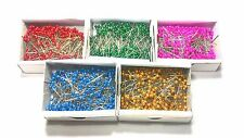 Box of 500 Sewing Pins Round Head Dressmaking Straight Sharp Pearlized Bead Pin