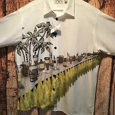 Preswick & Moore Island Collection XL Bar Drinks Booze Hawaiian Tropical Shirt