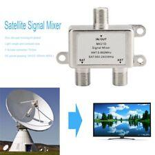 2 Ways Satellite Splitter TV Signal Cable TV Signal Mixer SAT/ANT Diplexer JU