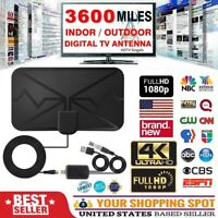 3600 Miles TV Antenna 4K 1080P Newest HDTV Indoor Digital Amplified TV Antennas