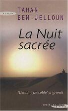 La nuit sacree.Tahar Ben JELLOUN.Succes du livre J001