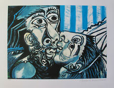 """Pablo Picasso THE KISS Estate Signed & Stamped Limited Edition Giclee 20"""" x 26"""""""