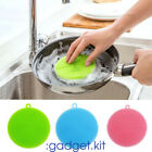 Soft Silicone Sponge Scrubber Kitchen Tool Fruit Dish Household Cleaning FM98