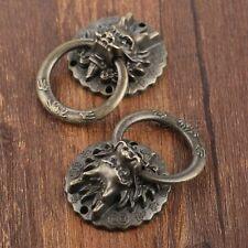 Vintage Dragon Head Door Pull Handle Ring Furniture Drawer Cupboard Cabinet Knob