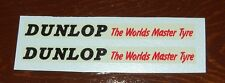 """Dinky 290 Double Deck Bus """"DUNLOP TYRES"""" Sloping Text for Red Bus Decal Set(#48)"""