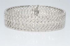 $17,200 3.37Ct Natural Round Cut Diamond Cluster Bracelet 14k White Gold