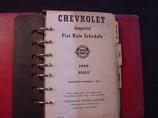 1960 CHEVROLET SHOP RATE MANUAL