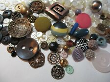 New listing Vintage Junk Drawer Button Lot Glass Shell Plastic Metal Jewelry 14oz. 19-002