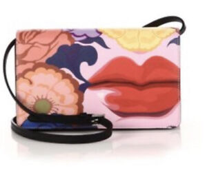 Prada Saffiano Lips Print Crossbody Bag- Rare EUC Authentic!