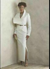 Ashro Winter White Formal Wedding Church Champagne Skirt Suit Size 26W 3X PLUS