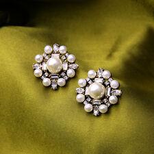 Gran Gatsby elegante sofisticadas Vintage Boda Nupcial perlas Stud Earring