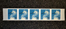 2003USA #3829  37c  Snowy Egret - PNC Coil Strip of 5 Mint NH #V3222