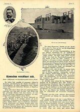 Kolonie Kiautschau verschönert sich Jäschke Gouverneur von Tsingtau Bau de..1899