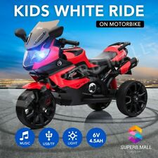 Kids Ride On Motorbike Electric Anti-slip Wheels Bike Car Toy 12V 20W Black&RED