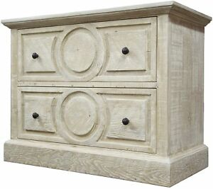 """39"""" L  Harper File Cabinet Reclaimed Fir Hand Crafted Carved Drawer Fronts"""