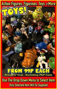 Toys: Star Wars, Garfield, Mr Men, Rug Rats, Sonic The Hedgehog (Select Item)