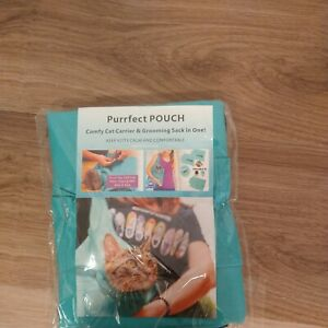 The Purrfect Pouch Cat Carrier Teal Green Shoulder Bag Cat Carrier Small Pet