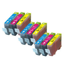 9 PK COLOR Ink Cartridges for Canon series CLI-221 MX860 MX870 MP980 MP990 MP640