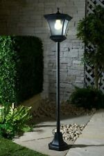 4Ft Victorian Solar Powered Lamp Post Garden Ornament Light Lighting 126cm Sun