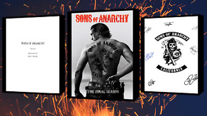 Sons of Anarchy Script/Screenplay With Poster And Autographs Signed Print