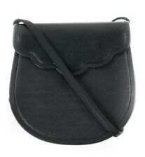 YVES SAINT LAURENT YSL VINTAGE CROSSBODY SADDLE HANDBAG IN BLACK w  STRAP 081bee677c2d7